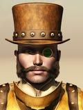 Steampunk男性画象 库存图片