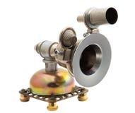 Steampunk留声机 免版税库存照片