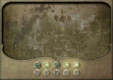 Steampunk盘区空的控制板 免版税库存图片