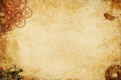 Steampunk纸背景 免版税图库摄影