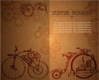 Steampunk背景样式 desing的卡片 图库摄影