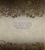Steampunk背景 维多利亚女王时代的时代, steampunk样式 免版税图库摄影