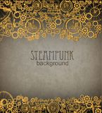 Steampunk背景 维多利亚女王时代的时代, steampunk样式 免版税库存照片