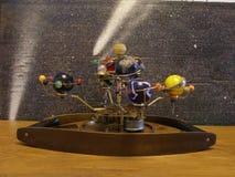 Steampunk艺术太阳系仪 免版税库存图片