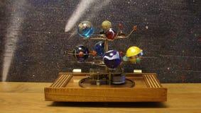 Steampunk艺术太阳系仪 图库摄影