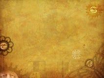 Steampunk边界 免版税库存照片