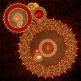 Steampunk钟表机构机器 库存图片