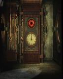 Steampunk钟表机构 免版税库存图片