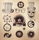 Steampunk齿轮汇集 免版税库存照片