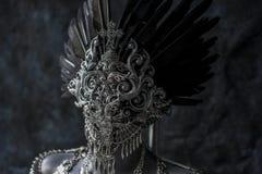 Steampunk,手工制造片断,有的链子的银色首饰服装 库存图片