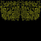 Steampunk, αφηρημένο, κίτρινο fractal περιλήψεων υπόβαθρο Διανυσματική απεικόνιση