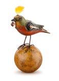 Steampunk πουλί που απομονώνεται μηχανικό στοκ φωτογραφία με δικαίωμα ελεύθερης χρήσης