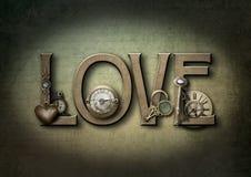 Steampunk влюбленности иллюстрация вектора