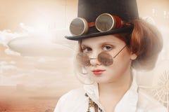 Steampunk девушки Redhead Стоковая Фотография