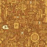 steampunk картины безшовное Стоковое Изображение RF