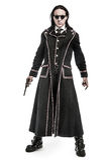 Steampunk维多利亚女王时代的服装字符 库存照片
