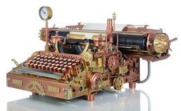 Steampunk打字机。 免版税图库摄影