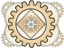 Steampunk Abstract Gear Ornament Royalty Free Stock Images