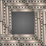 Steampunk achtergrondmetaalplaten Stock Foto's
