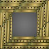 Steampunk achtergrondmetaalplaten Kader Royalty-vrije Stock Fotografie