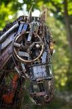 Steampunk alinha o cavalo feito das peças de metal Foto de Stock Royalty Free