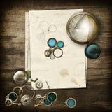 Steampunk anvisningar Arkivbild