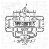Steampunk apparat stock illustrationer
