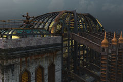 Steampunk-Architektur Stockfoto