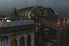 Steampunk arkitektur Arkivfoto