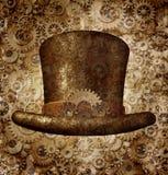 Steampunk bästa hatt Arkivbild
