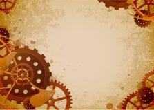 Steampunk background stock illustration