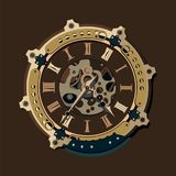 Steampunk background. Steampunk gears background backdrops wallpaper Stock Images