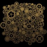 Steampunk background. Steampunk gears background backdrops wallpaper Royalty Free Stock Photography