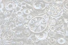 Steampunk background, machine and mechanical parts, large gears and chains from machines and tractors. royalty free stock photos