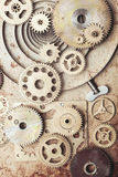 The Steampunk background Stock Images