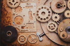 The Steampunk background Stock Image