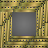 Steampunk background metal plates. Frame Royalty Free Stock Photography