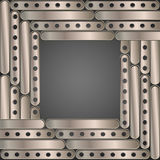 Steampunk background metal plates Stock Photos