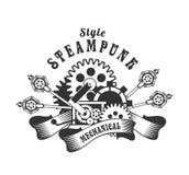Steampunk badge Stock Image