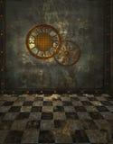 Steampunk bakgrund Arkivbilder