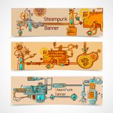 Steampunk Banner Set Stock Image