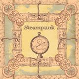 Steampunk. Beautiful steampunk hand drawn old background for your design Stock Image