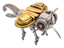 Steampunk bee. Royalty Free Stock Photo