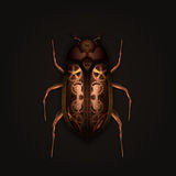 Steampunk beetle. Steampunk style mechanical beetle on dark background Royalty Free Stock Photos