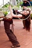 steampunk bellydancer стоковое фото rf