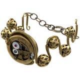 Steampunk biżuterii bransoletka na Białym tle Zdjęcie Royalty Free
