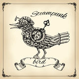 Steampunk bird Royalty Free Stock Image