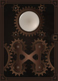 Steampunk book cover template Royalty Free Stock Images