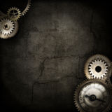 Steampunk border blurred Royalty Free Stock Image