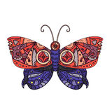 Steampunk butterfly tattoo Stock Images